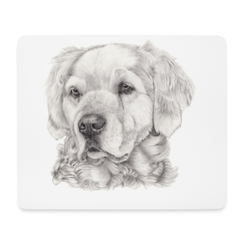golden retriever - Mousepad (bredformat)