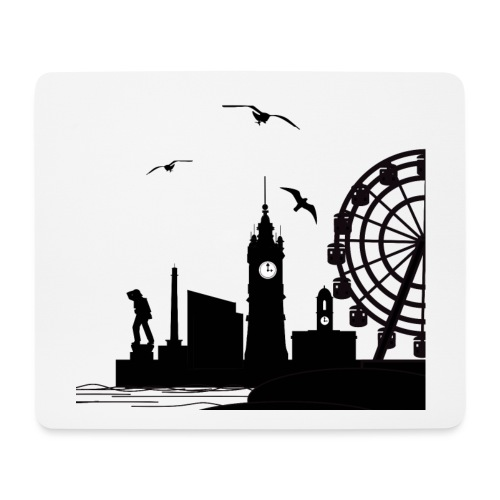 Silhouette of Margate - Mouse Pad (horizontal)