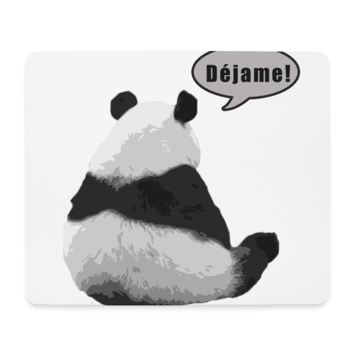 Panda Dejame - Alfombrilla de ratón (horizontal)