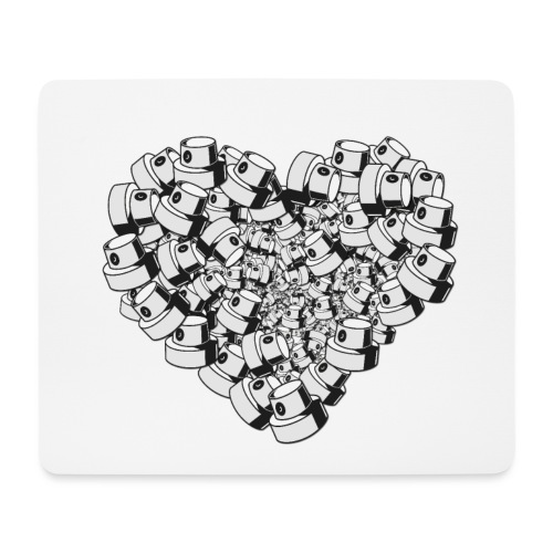 heart for art street love - Mousepad (bredformat)