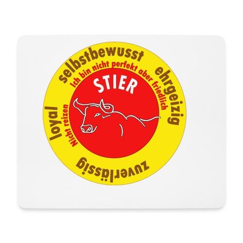 Stier Sternzeichen Logo Strich - Mousepad (Querformat)
