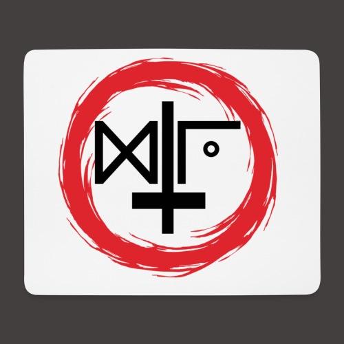 Logo Gu Croix Noir - Tapis de souris (format paysage)