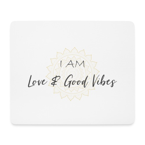 I am love and good vibes grey_gold - Mousepad (Querformat)
