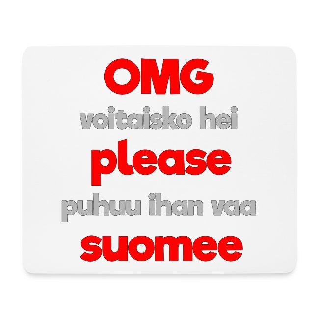 OMG please puhutaa suomee, punainen