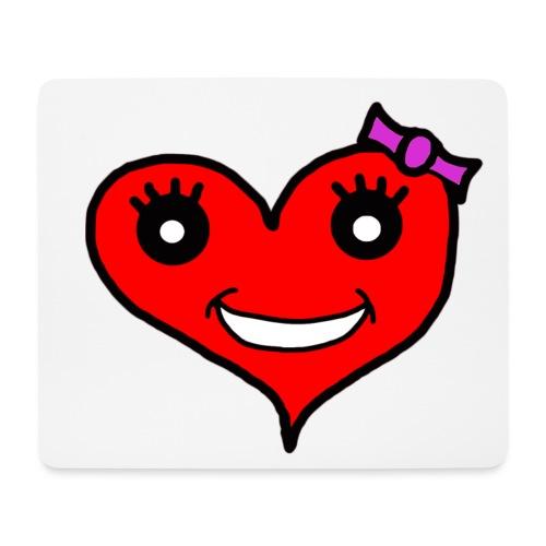Herz Smiley Schlaufe - Mousepad (Querformat)