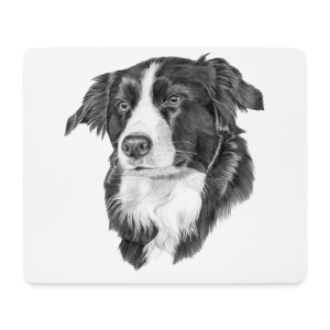 border collie S - Mousepad (bredformat)