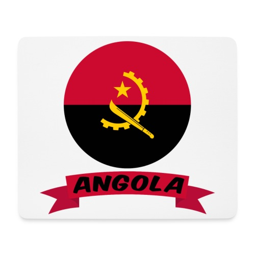 flag of Angola t shirt design ribbon banner - Tappetino per mouse (orizzontale)