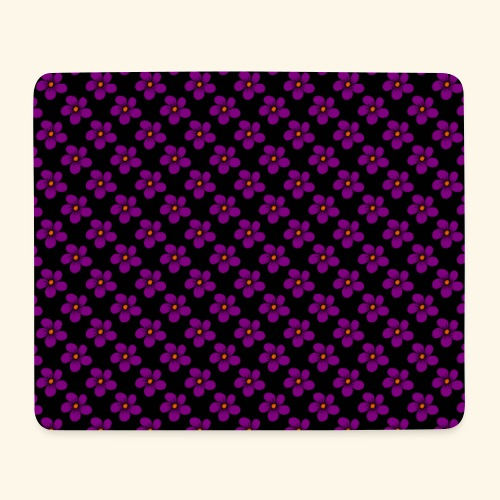 violette Blumen, Blüten, floral, blumig, violett - Mousepad (Querformat)