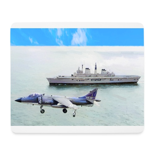 Sea harrier and Invicible digital oil - Mouse Pad (horizontal)