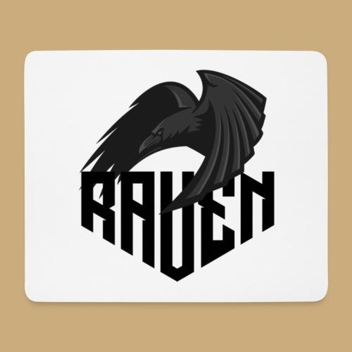 Raven Logo V3 - Tapis de souris (format paysage)