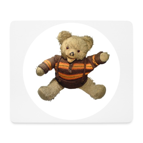 Teddybär - orange braun - Retro Vintage - Bär - Mousepad (Querformat)