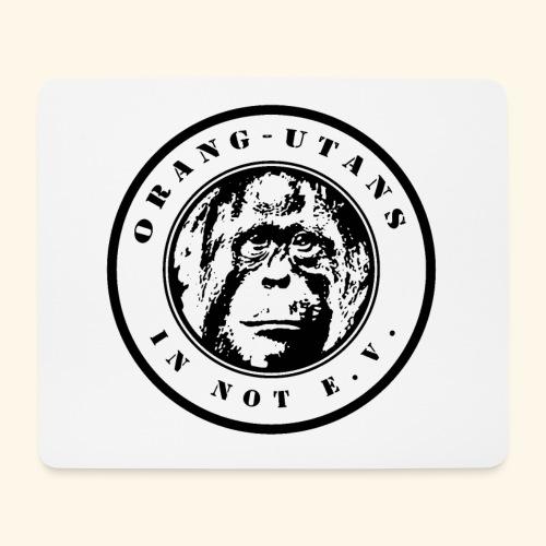 Logo Orang-Utans in Not e.V. schwarz - Mousepad (Querformat)