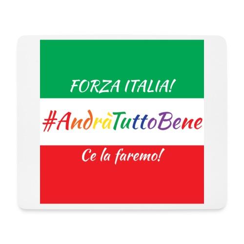 Andrà Tutto Bene su Bandiera Italiana - Tappetino per mouse (orizzontale)