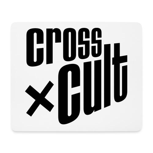 Cross Cult Logo Schwarz - Mousepad (Querformat)