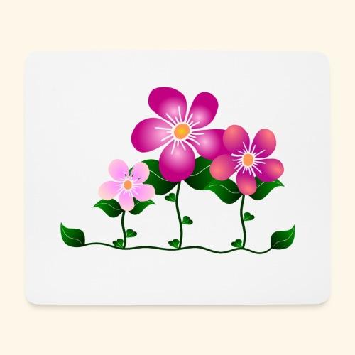 Blumen, pink, Blüten, floral, Blumenwiese, blumig - Mousepad (Querformat)