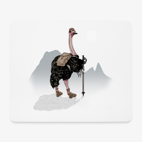 Ostrich Walker - Mouse Pad (horizontal)