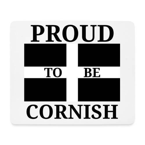 Proud Cornish - Black - Mouse Pad (horizontal)
