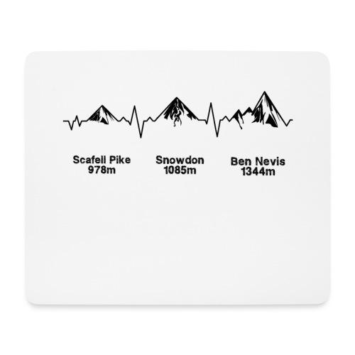 ECG Thee Peaks Light Background - Mouse Pad (horizontal)