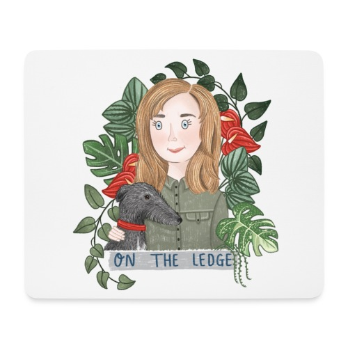Jane and Wolfie - Mouse Pad (horizontal)