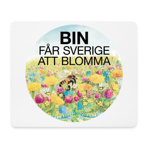 Bin får Sverige att blomma - Musmatta (liggande format)