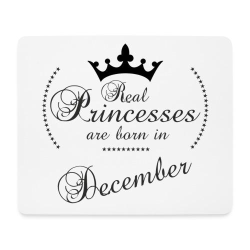 Real Princesses black December - Mousepad (Querformat)