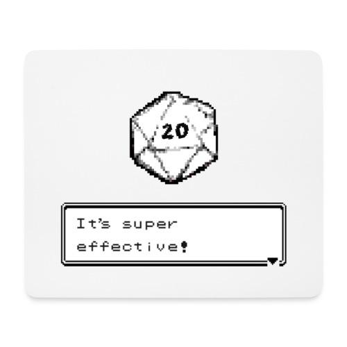 Kriittinen osuma d20 Super Effective! - D & D Dnd - Hiirimatto (vaakamalli)