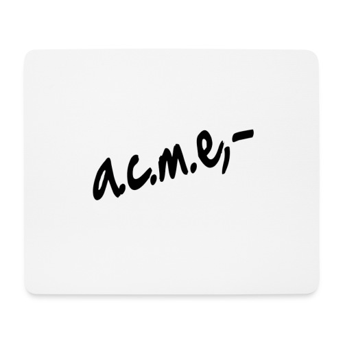 acmeproductionswhite - Mousepad (Querformat)