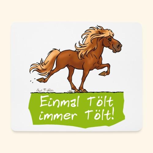 Island Pferd Tölt - Tapis de souris (format paysage)