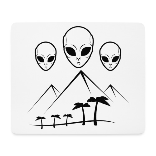 Pyramides & Extraterrestres - Tapis de souris (format paysage)