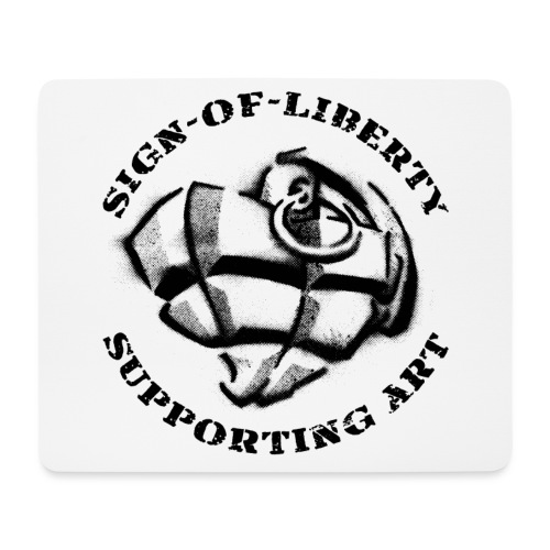 Sign-of-Liberty Supporting Art schwarz - Mousepad (Querformat)