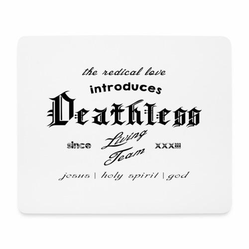 deathless living team schwarz - Mousepad (Querformat)