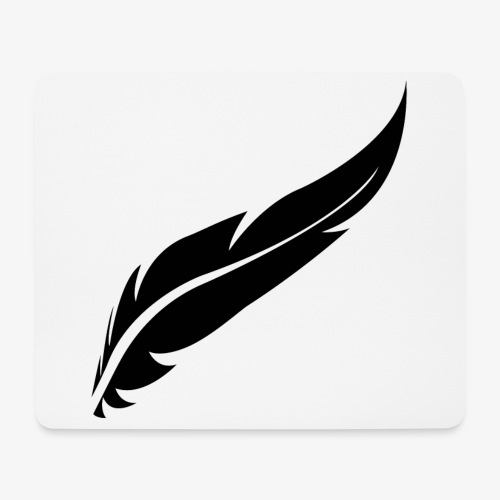 logo plume black - Tapis de souris (format paysage)