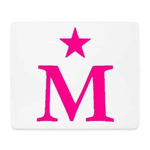 M de Moderdonia rosa - Alfombrilla de ratón (horizontal)