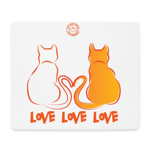The Red Twins LOVE LOVE LOVE 2 - Tappetino per mouse (orizzontale)