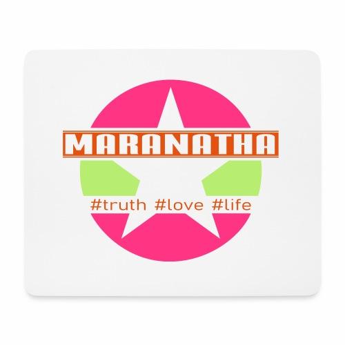 maranatha rosa-grün - Mousepad (Querformat)