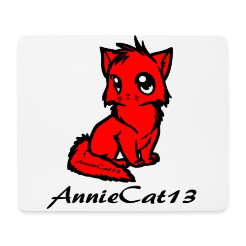 annie cat logo for with writing png - Mouse Pad (horizontal)
