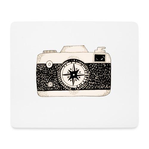 Kompass Kamera Fotografie Geschenk - Mousepad (Querformat)
