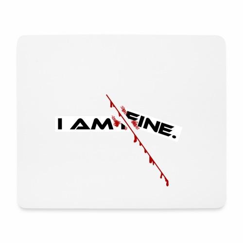 I AM FINE Design mit Schnitt, Depression, Cut - Mousepad (Querformat)