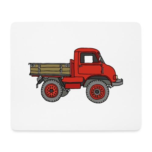 Roter Lastwagen, LKW, Laster - Mousepad (Querformat)