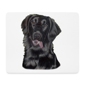 flatcoated retriever p - Mousepad (bredformat)