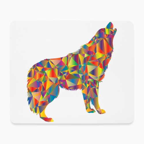 howling colorful - Mouse Pad (horizontal)