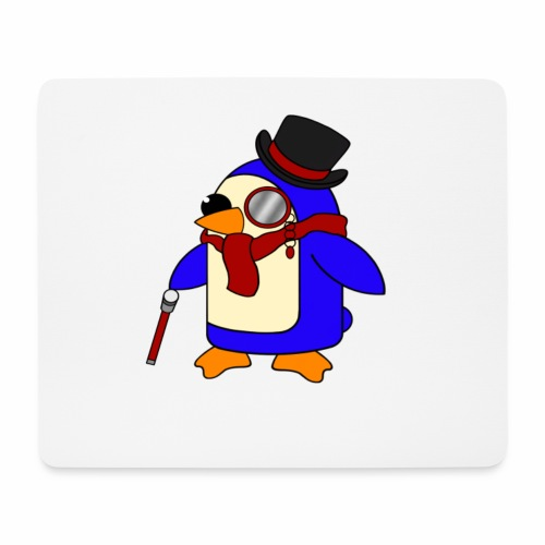 Cute Posh Crimson Red Penguin - Mouse Pad (horizontal)