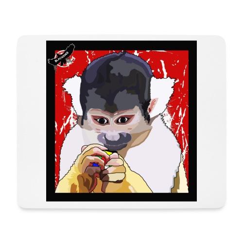 'Clever Monkey 2' by BlackenedMoonArts, w. logo - Mousepad (bredformat)