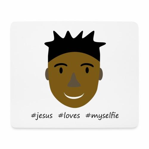jesus loves myselfie - Mousepad (Querformat)