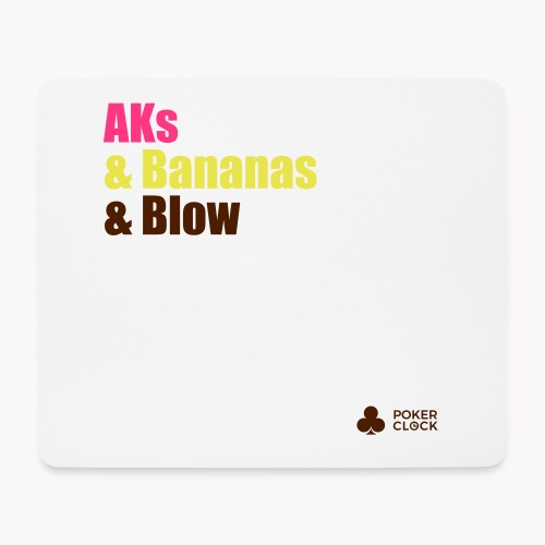 AKs & Bananas & Blow - Mousepad (Querformat)