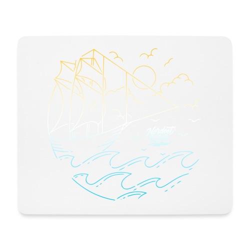 Schiff mit Sonne und Meer - Mousepad (Querformat)