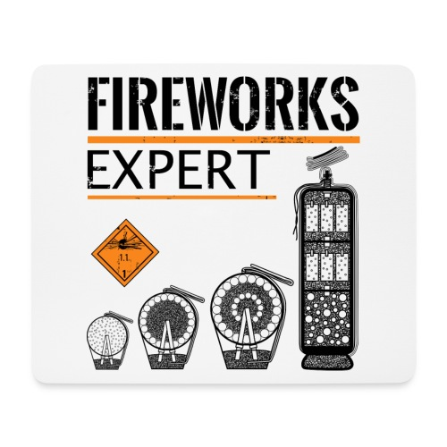 Feuerwerk Experte Pyro Silvester - Mousepad (Querformat)