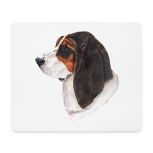bassethound color - Mousepad (bredformat)