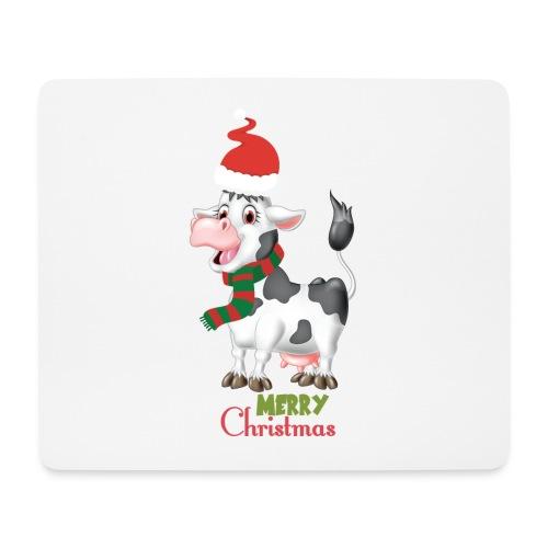 Merry Christmas - cow - Musmatta (liggande format)