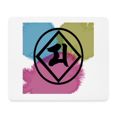 Logo Japones color - Alfombrilla de ratón (horizontal)